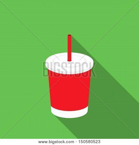 Cola raster illustration icon in flat design