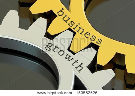 Business Growth concept on the gearwheels 3D rendering