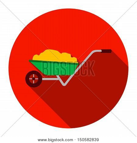 Wheelbarrow icon of raster illustration for web and mobile design