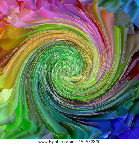 Abstract coloring background of the pastels  gradient with visual mosaic,pinch,plastic wrap and twirl effects.Good for your project design