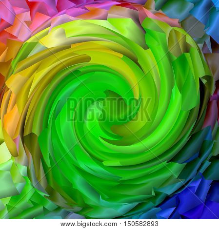 Abstract coloring background of the pastels  gradient with visual mosaic,spherize and twirl effects.Good for your project design