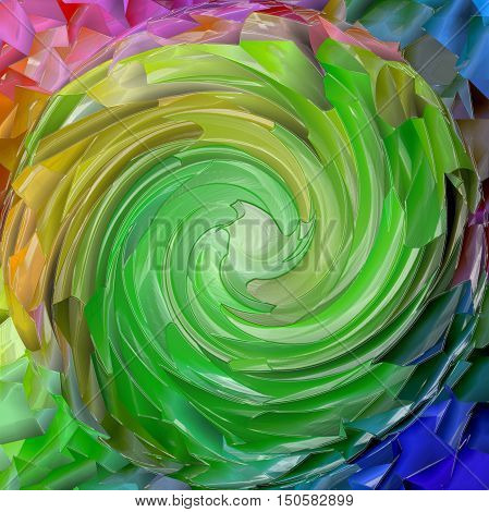 Abstract coloring background of the pastels  gradient with visual mosaic,spherize,twirl and plastic wrap effects.Good for your project design