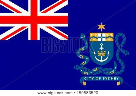 Flag of Sydney is the state capital of New South Wales and the most populous city in Australia and Oceania.