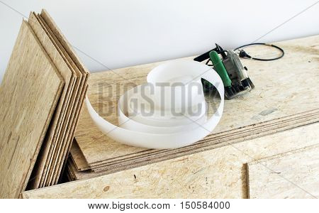 Various Tools For Installing Wooden Floor