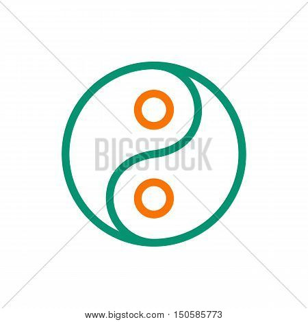Yin Yang icon on white background Created For Mobile Web Decor Print Products Applications. Icon isolated. Vector illustration