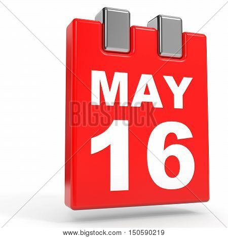 May 16. Calendar On White Background.