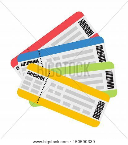 Vector illustration plane tickets. Holiday plane tickets, vacation plane tickets concept. Plane tickets travel, tourism business vacation, trip pass tourist flight symbol.