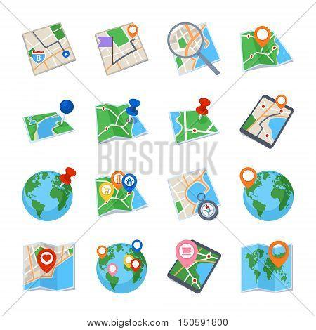 Map & Navigation Icons - Set 1