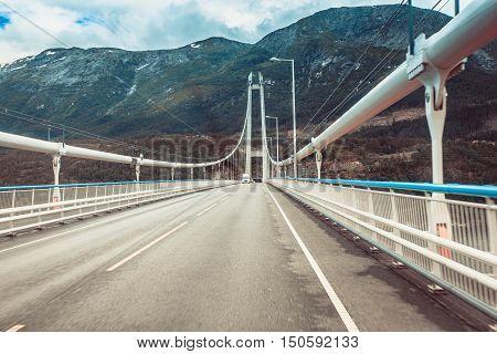 Suspension Bridge In Norway