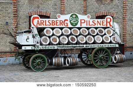 COPENHAGEN, DENMARK - JUNE 2016 :  The Carlsberg Brewery museum is one of the top tourist attractions in Copenhagen
