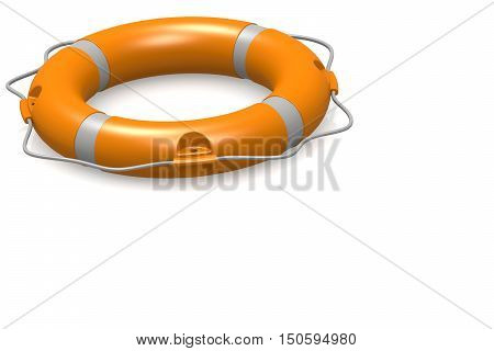 Life Buoy In White