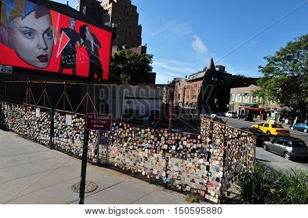9/11 Childrens Memorial Wall made from 5000 tile in Greenwich Village in Manhattan New York.