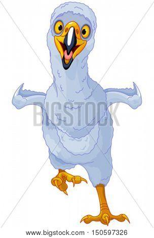 Illustration of cute eaglet bird