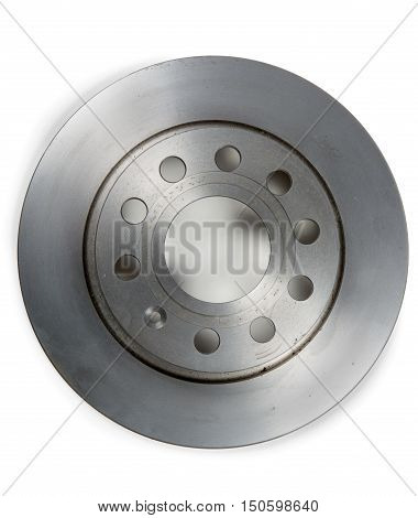 a brake disc isolated on white background