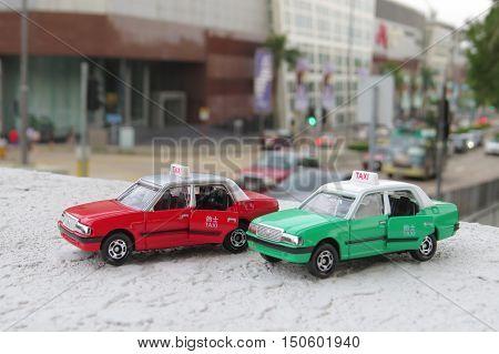 Model Taxi At Hong Kong