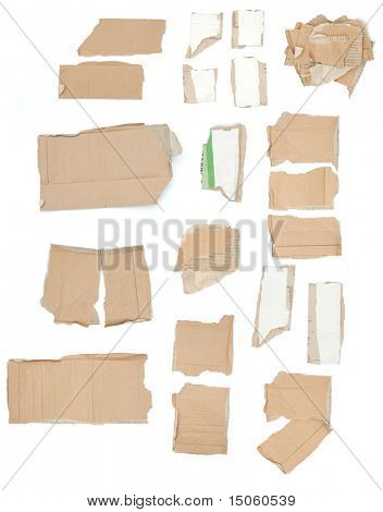 High res cardboard elements