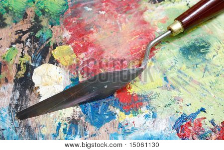 Painting with palette knife