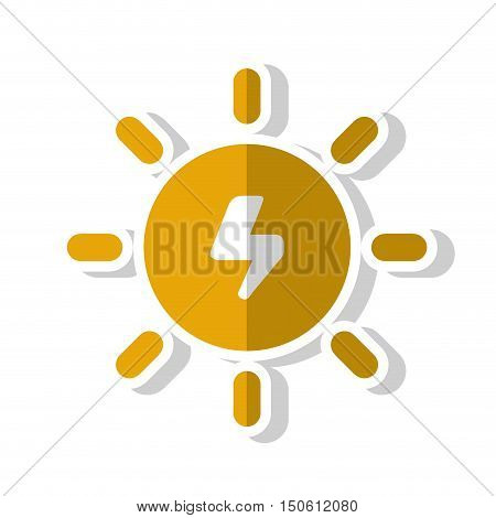 Sun energy. Ecology renewable and conservation theme. Isolated design. Vector illustration