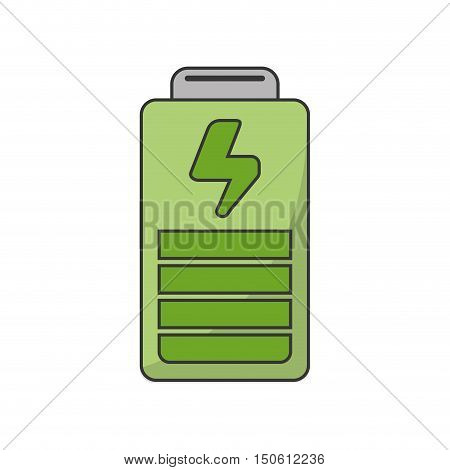 Battery power icon. Ecology renewable and conservation theme. Isolated design. Vector illustration