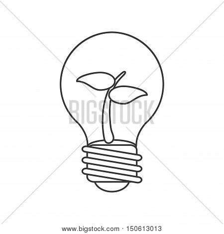 leaf inside light bulb icon. Ecology renewable and conservation theme. Isolated design. Vector illustration