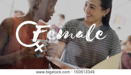 Female Women Equal Opportunities Concept