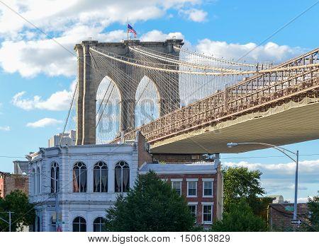 Brooklyn Bridge From Old Fulton Street