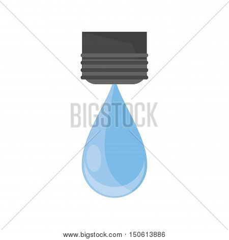 Water drop icon. Ecology renewable and conservation theme. Isolated design. Vector illustration