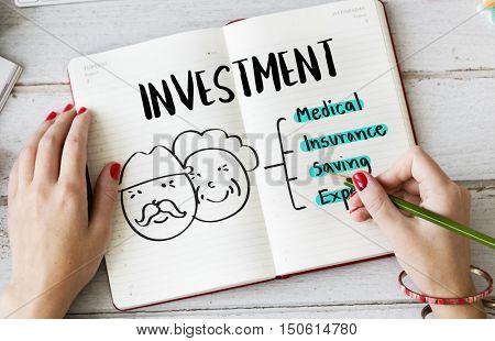 Retirement Financial Plan Risk Assessment Senior Concept