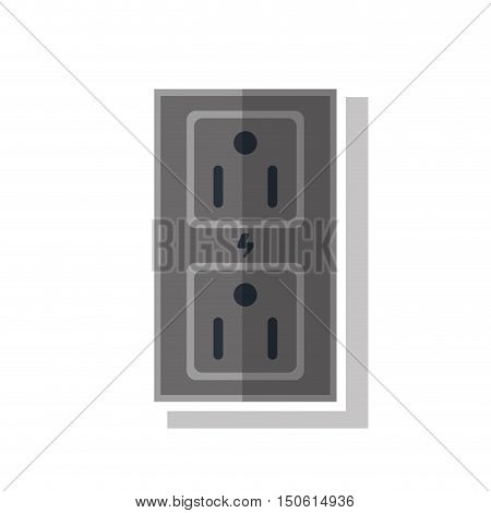 Plug object icon. energy power ecology renewable and conservation theme. Isolated design. Vector illustration