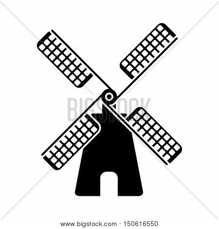 Wind mill icon. Ecology renewable and conservation theme. Isolated design. Vector illustration