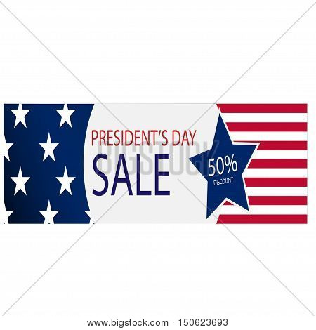 The presidential election big discount on a white background. Vector illustration
