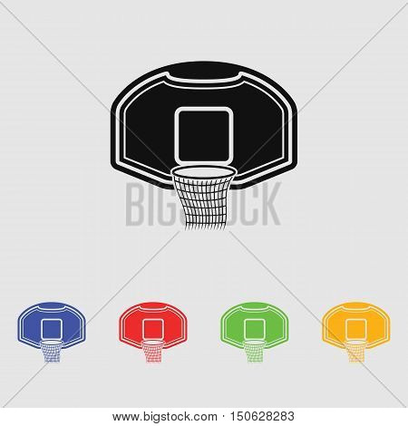 Vector illustration basketball basket basketball hoop basketball net.
