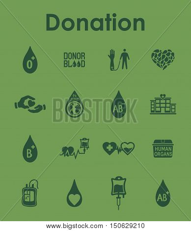 It is a set of donation simple web icons