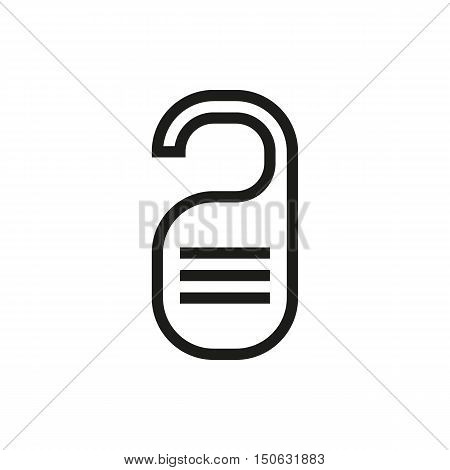 please do not disturb and service my room signs icon on white background Created For Mobile Web Decor Print Products Applications. Icon isolated. Vector illustration