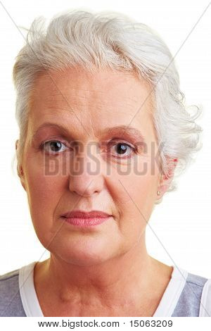Face Of An Elderly Woman