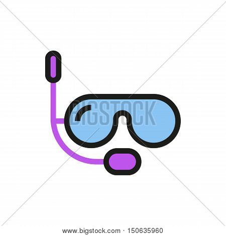 Diving mask icon on white background Created For Mobile Web Decor Print Products Applications. Icon isolated. Vector illustration