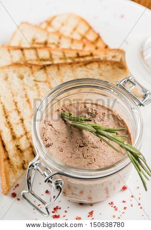 liver pate in jar