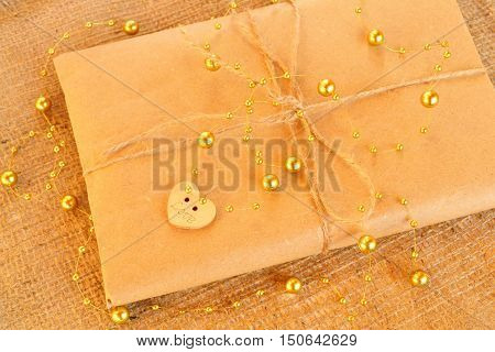 Gift box - gift box handicraft wrapping, parchment twine, cute simple