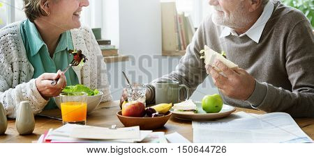 Senior Retirement Breakfast Meal Food Dining Concept