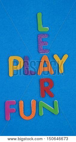 Learn, play and fun in crossword