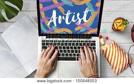 Artist Art Craft Creation Creative Imagination Concept