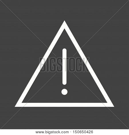 Warning, sign, alert icon vector image. Can also be used for warning caution. Suitable for mobile apps, web apps and print media.