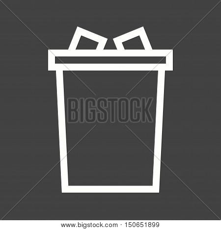 Garbage, bin, warning icon vector image.Can also be used for warning caution. Suitable for mobile apps, web apps and print media.