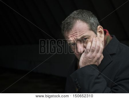 Portrait of a sad
