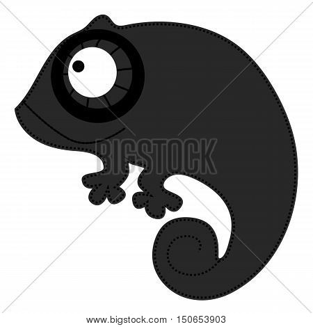 baby icon black chameleon. Template for design and decoration. vector illustration.