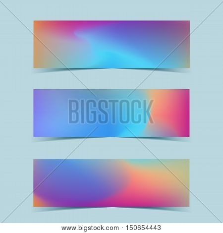 Fluid colorful banners set. Vector template design.