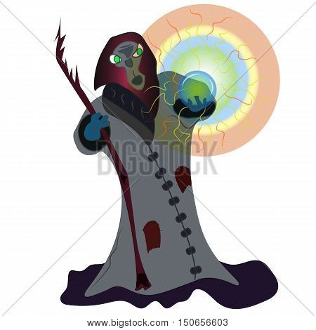 Wizard with Crystal Ball - JPEG illustration