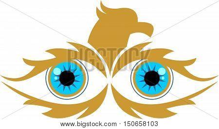 stock logo sharp of golden eagle eye