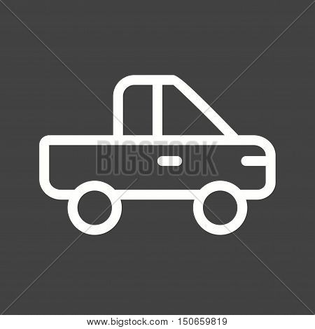 Pickup, truck, vehicle icon vector image. Can also be used for vehicles. Suitable for use on web apps, mobile apps and print media.
