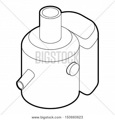 Juicer icon in outline style on a white background vector illustration